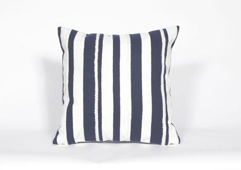 Trans-Ocean Import Co., Inc. - Visions II Marina Stripe Marine Throw Pillow - 7SB2S417903