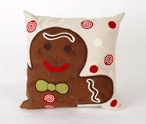 Trans-Ocean Import Co., Inc. - Visions II Ginger Boy Chocolate Throw Pillow - 7SB2S420419