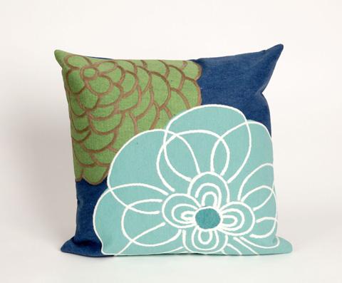 Trans-Ocean Import Co., Inc. - Visions III Disco Blue Throw Pillow - 7SC2S411803