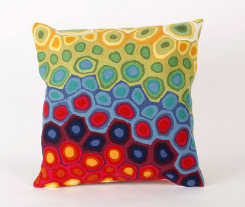 Trans-Ocean Import Co., Inc. - Visions III Pop Swirl Multi Throw Pillow - 7SC2S412744