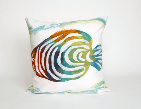 Trans-Ocean Import Co., Inc. - Visions III Rainbow Fish Pearl Throw Pillow - 7SC2S415212