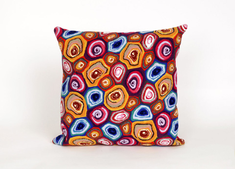 Trans-Ocean Import Co., Inc. - Visions III Murano Swirl Jewel Throw Pillow - 7SC2S416644