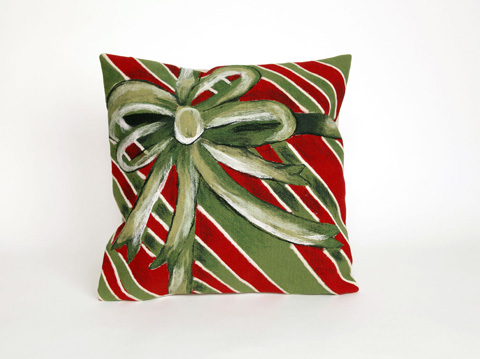 Trans-Ocean Import Co., Inc. - Visions III Gift Box Green Throw Pillow - 7SC2S420206
