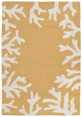 Trans-Ocean Import Co., Inc. - Capri Coral Border Yellow Rug - CAP23162009