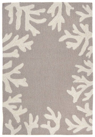 Trans-Ocean Import Co., Inc. - Capri Coral Border Silver Rug - CAP23162047