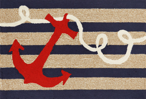 Trans-Ocean Import Co., Inc. - Frontporch Anchor Navy Rug - FTP23140033
