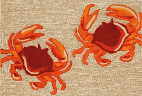 Trans-Ocean Import Co., Inc. - Frontporch Crabs Natural Rug - FTP23140412