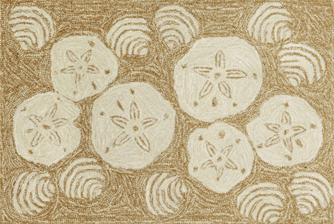 Trans-Ocean Import Co., Inc. - Frontporch Shell Toss Natural Rug - FTP23140822