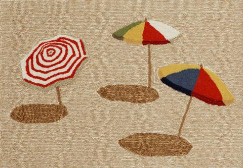 Trans-Ocean Import Co., Inc. - Frontporch Beach Umbrella Natural Rug - FTP23140912