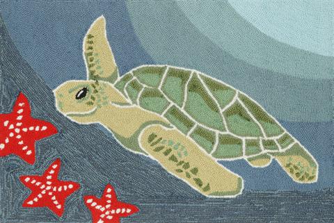 Trans-Ocean Import Co., Inc. - Frontporch Sea Turtle Ocean Rug - FTP23143104
