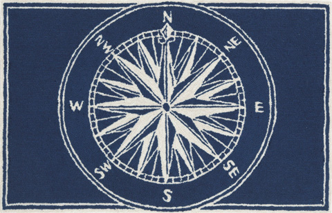 Image of Frontporch Compass Navy Rug