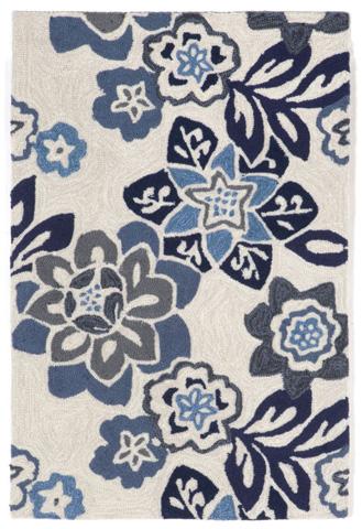 Trans-Ocean Import Co., Inc. - Ravella Floral China Blue Rug - RVL23218003