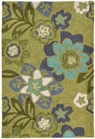 Trans-Ocean Import Co., Inc. - Ravella Floral Green Rug - RVL23218006