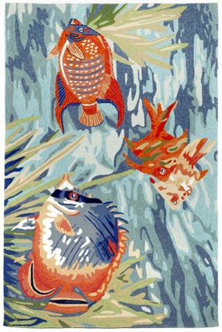 Trans-Ocean Import Co., Inc. - Ravella Tropical Fish Ocean Rug - RVL57225504