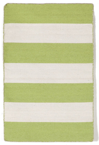 Trans-Ocean Import Co., Inc. - Sorrento Rugby Stripe Lime Rug - SRN23630216