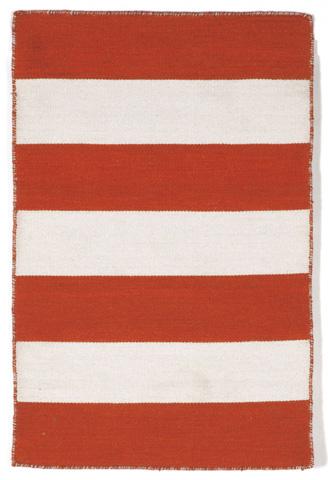 Trans-Ocean Import Co., Inc. - Sorrento Rugby Stripe Paprika Rug - SRN23630217