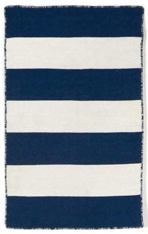 Trans-Ocean Import Co., Inc. - Sorrento Rugby Stripe Navy Rug - SRN23630233