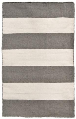 Trans-Ocean Import Co., Inc. - Sorrento Rugby Stripe Grey Rug - SRN23630247