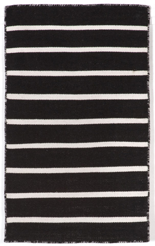 Image of Sorrento Pinstripe Black Rug