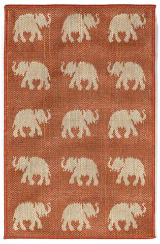 Trans-Ocean Import Co., Inc. - Terrace Elephants Terra Rug - TER23176774