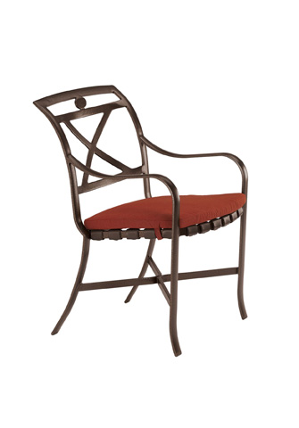 Tropitone Furniture Co., Inc. - Palladian Strap Dining Chair with Pad - 10992405