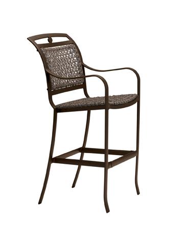 Tropitone Furniture Co., Inc. - Palladian Lattice Woven Stationary Barstool - 109926LS