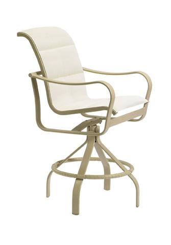Tropitone Furniture Co., Inc. - Shoreline Padded Sling Swivel Barstool - 150027PS-28