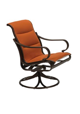 Tropitone Furniture Co., Inc. - Torino Padded Sling Swivel Rocker - 150369PS