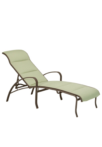 Tropitone Furniture Co., Inc. - Spinnaker Padded Sling Chaise Lounge - 159932PS
