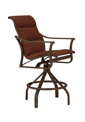Tropitone Furniture Co., Inc. - Corsica Padded Sling Swivel Barstool - 161127PS-28