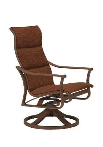 Tropitone Furniture Co., Inc. - Corsica Padded Sling High Back Swivel Rocker - 161170PS
