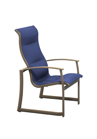 Tropitone Furniture Co., Inc. - MainSail Padded Sling High Back Dining Chair - 181001PS