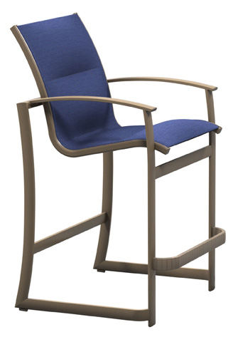 Tropitone Furniture Co., Inc. - MainSail Padded Sling Stationary Barstool - 181026PS