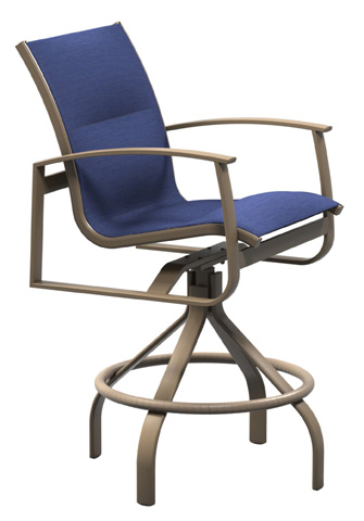 Tropitone Furniture Co., Inc. - MainSail Padded Sling Swivel Barstool - 181027PS-28