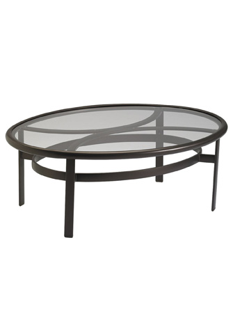 Tropitone Furniture Co., Inc. - Smoked Glass Elliptical Coffee Table - 190367GS