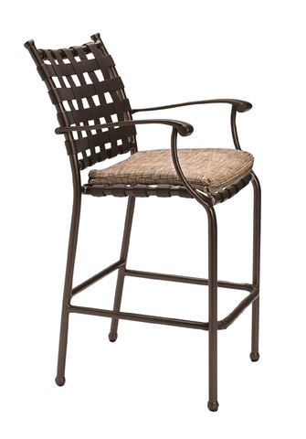 Tropitone Furniture Co., Inc. - Sorrento Strap Barstool with Seat Pad - 20042605