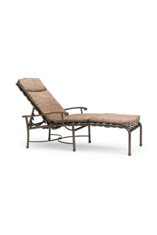 Tropitone Furniture Co., Inc. - Sorrento Strap Chaise Lounge with Pad - 20043205