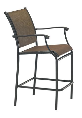 Tropitone Furniture Co., Inc. - Sorrento Relaxed Sling Stationary Barstool - 200826