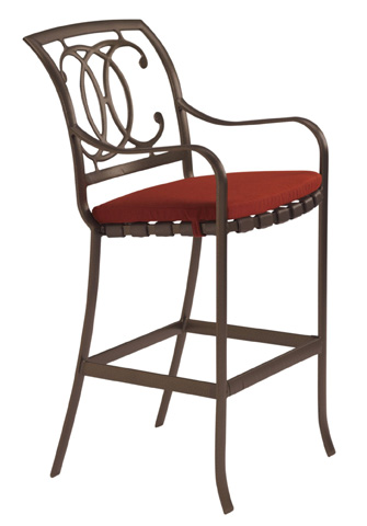 Tropitone Furniture Co., Inc. - Palladian Strap Barstool with Seat Pad - 22002605