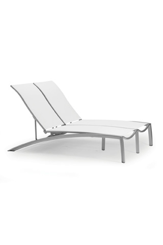 Tropitone Furniture Co., Inc. - South Beach Relaxed Sling Double Chaise - 240575