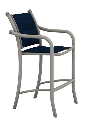 Tropitone Furniture Co., Inc. - La Scala Padded Sling Stationary Barstool - 330726PS