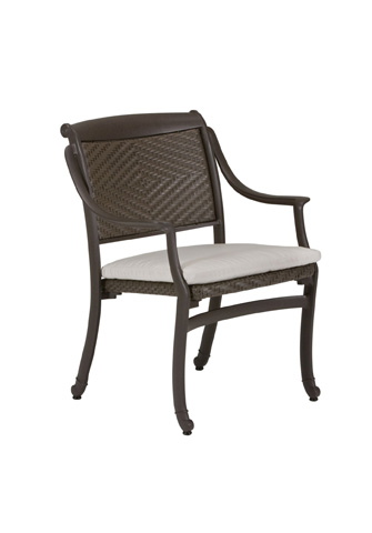 Tropitone Furniture Co., Inc. - BelMar Woven Dining Chair with Pad - 34092405DS