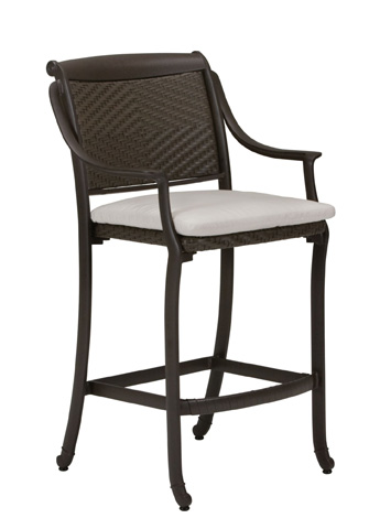 Tropitone Furniture Co., Inc. - BelMar Woven Stationary Barstool with Pad - 34092605DS