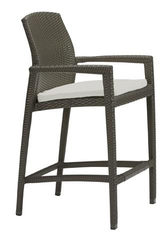 Tropitone Furniture Co., Inc. - Evo Woven Stationary Barstool with Pad - 36082605