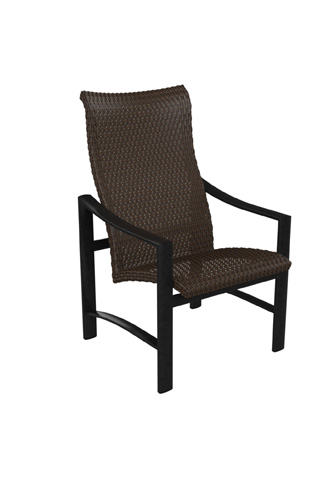 Tropitone Furniture Co., Inc. - Kenzo Woven High Back Dining Chair - 381501WS