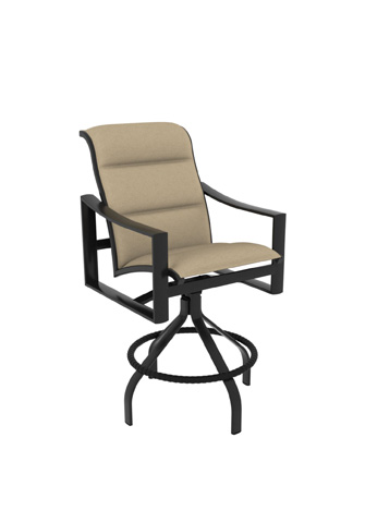 Tropitone Furniture Co., Inc. - Kenzo Padded Sling Swivel Barstool - 381527PS-28