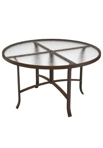 Tropitone Furniture Co., Inc. - Acrylic Round Dining Umbrella Table - 4248AU
