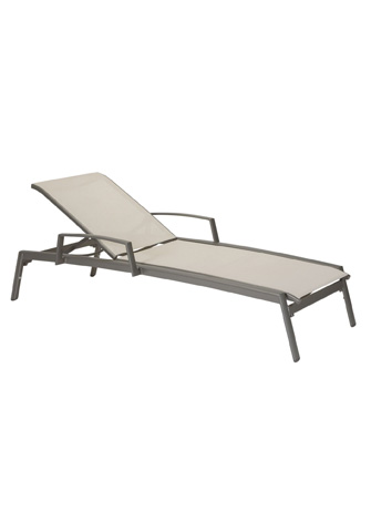 Tropitone Furniture Co., Inc. - Elance Relaxed Sling Chaise Lounge with Arms - 461433