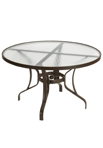 Tropitone Furniture Co., Inc. - Obscure Glass Round Dining Table - 500048G