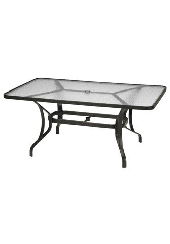 Tropitone Furniture Co., Inc. - Obscure Glass Rectangular Dining Umbrella Table - 500066GU